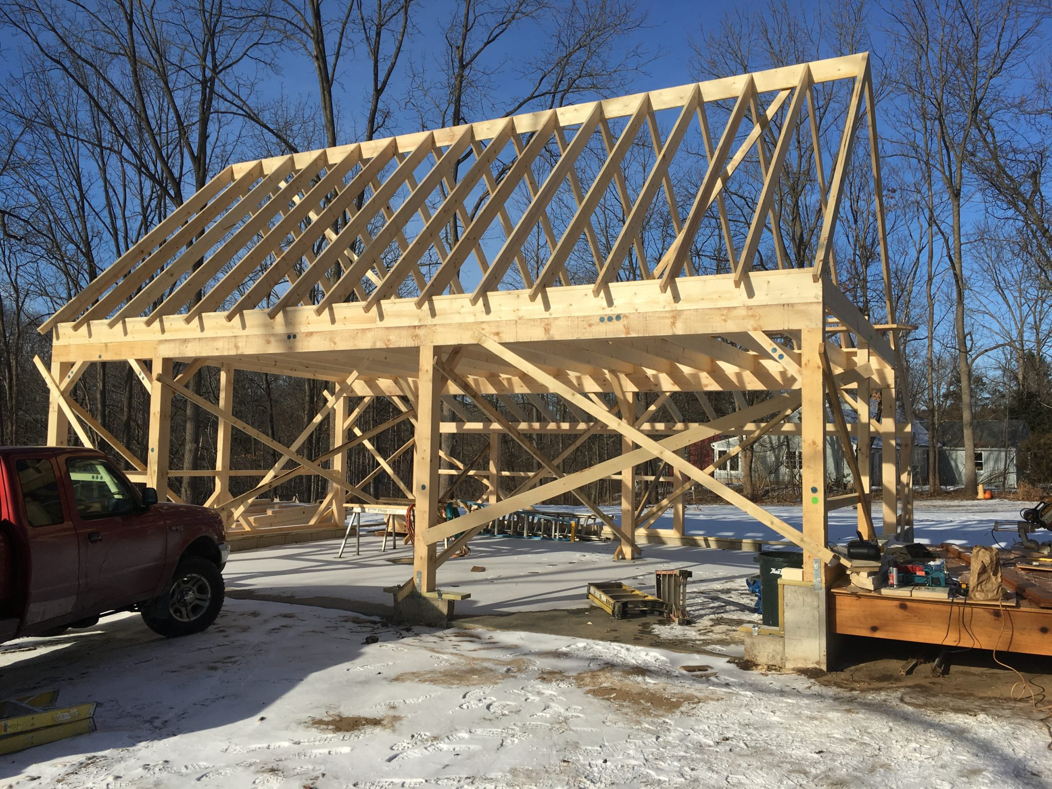 Country Carpenters In Hebron CT Is Supplying The Garage They Have Some Very Nice Post And Beam Style Structures Home Hearth Always Works To Provide